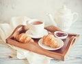Breakfast on a tray Royalty Free Stock Photo