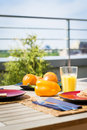 Breakfest on balcony Royalty Free Stock Photography