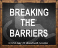 Breaking the barriers written on blackboard Royalty Free Stock Photo