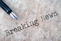 Breaking news Royalty Free Stock Images