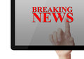 Breaking News Royalty Free Stock Photo