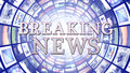 BREAKING NEWS and Monitors Tunnel Background, Computer Graphics Royalty Free Stock Photo
