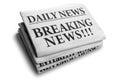 Breaking news daily newspaper headline Royalty Free Stock Photo