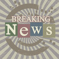 Breaking news retro screen background vector illustration Royalty Free Stock Photo