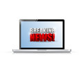 Breaking news sign on a laptop illustration design over white Stock Photography