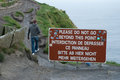 Breaking the rules at cliffs of moher Royalty Free Stock Images