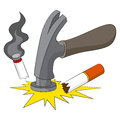 Breaking the smoking habit an image representing of bad of Stock Images