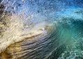 Breaking Tropical Ocean Wave Royalty Free Stock Photo