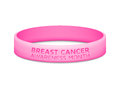 Breast cancer awareness month rubber wristband