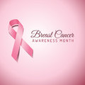Breast cancer awareness ribbon background on a pink file is layered and colors are global swatches for easy editing file is eps Royalty Free Stock Images