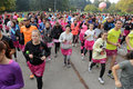 Breast cancer awareness run Royalty Free Stock Photo