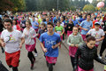 Breast cancer awareness run Royalty Free Stock Photo