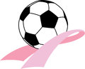 Breast Cancer Awareness Soccer Stock Image