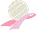 Breast Cancer Awareness Volleyball Stock Photo