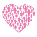 Breast cancer campaign heart
