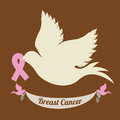 Breast cancer over brown background vector illustration Stock Photos