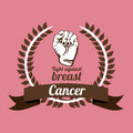 Breast cancer over pink background vector illustration Stock Photo