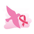 Breast cancer over white background vector illustration Stock Photo