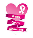 Breast cancer over white background vector illustration Stock Image