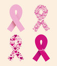 Breast cancer over white background vector illustration Stock Images