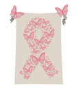 Breast cancer over white background vector illustration Royalty Free Stock Photos