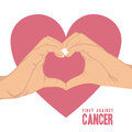 Breast cancer over white background vector illustration Stock Photography