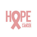 Breast cancer over white background vector illustration Royalty Free Stock Images