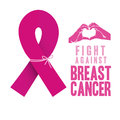 Breast cancer over white background vector illustration Royalty Free Stock Photography