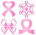 Breast Cancer Pink Ribbon Set/eps