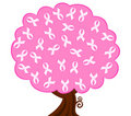 Breast cancer pink ribbon tree Royalty Free Stock Photo