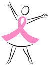 Breast Cancer Pink Ribbon Woman/eps Royalty Free Stock Photo