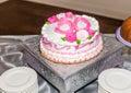 Breast Cancer Survivor 50th Birthday Cake Royalty Free Stock Photo