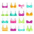 Breast retro bra icons vector Royalty Free Stock Photo