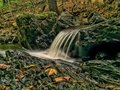 Breathtaking cascade forest waterfall Stock Images