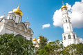 Breathtaking view of famous the annunciation cathedral in moscow kremlin russia Royalty Free Stock Image