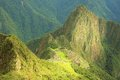 Breathtaking view from machu picchu mountain peru Stock Photo