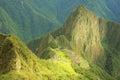 Breathtaking view from machu picchu mountain peru Stock Photo
