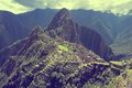Breathtaking view from machu picchu mountain peru Royalty Free Stock Photos