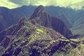 Breathtaking view from machu picchu mountain peru Royalty Free Stock Photos