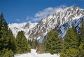 Breathtaking view of snowy mountains in the tatra Royalty Free Stock Photos
