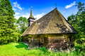 Breb wooden church, Maramures, Transylvania, Romania Royalty Free Stock Photo