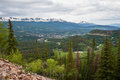 Breckenridge colorado view of from boreas pass road in Royalty Free Stock Photos