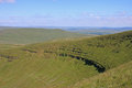 Brecon beacons hills of the wales Stock Photography