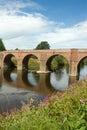 The Bredwardine Bridge river Wye Herefordshire. Royalty Free Stock Photography