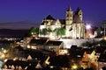 Breisach am rhein germany deutschland town night oldtown nacht church kirche Stock Images