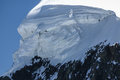 Breithorn peak in Swiss Alps seen from klein Matterhorn Royalty Free Stock Images