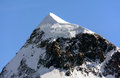 The breithorn from western side m above sea level Stock Image