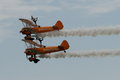 Breitling Wingwalkers at Airbourne 2015 Royalty Free Stock Photo