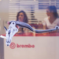 Brembo motorbike brakes at eicma in milan italy november international motorcycle exhibition on november Royalty Free Stock Photo