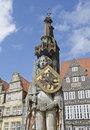 Bremen the statue of roland in germany Royalty Free Stock Images